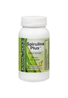 Spirulina Plus 500mg, 120 Tabletas,
