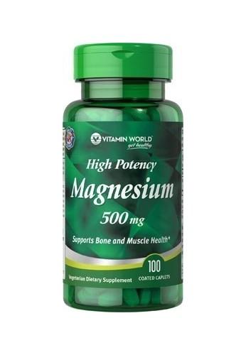 Óxido De Magnesio 500 Mg 100 Cápsulas Vitamin World