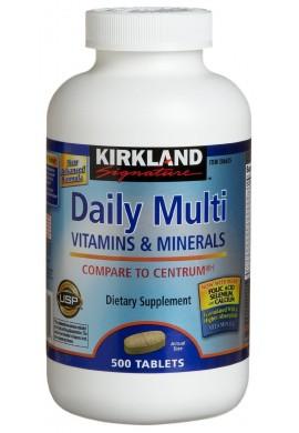Multivitaminico Daily Multi 500 Tabletas Para Fumadores Kirkland