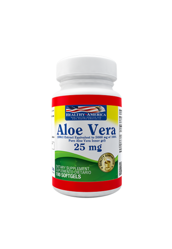 ALOE VERA 25MG FCOX100CAP HEALTHY AMERICA