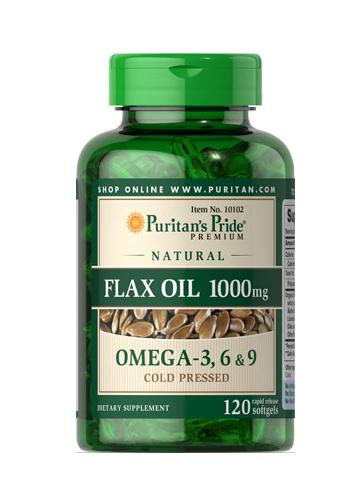 Aceite de linaza rico en lignanos, 1000 mg