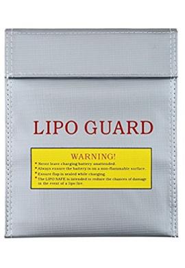 Bolsa grande de seguridad para batería de LiPo para la carga y el almacenaje (tamaño grande)