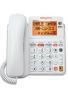 teléfono con contestadora y visualización retroiluminada, color blanco