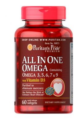 Omega-3, 5, 6, 7 y 9, todo en uno, con D3