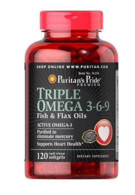 Aceites de linaza y pescado con triple Omega-3-6-9