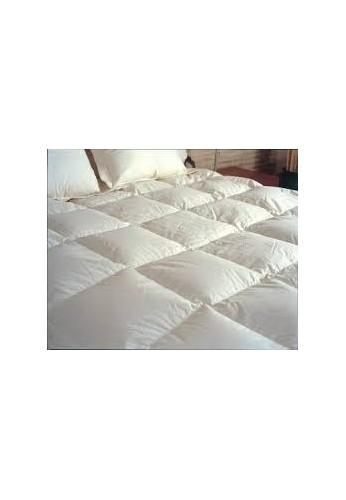 Cobija Edredon Plumon Doble Blanco 100 Cotton Plumas Importado