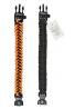 Brazalete Para Senderismo con brújula, iniciador de fuego, cuchillo de emergencia y silbato