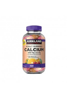 Calcio en gomas con Vitamina C - KIRKLAND Calcium gummies with D3 - 500 gr