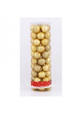 Accesorios Navideños Esferas De Navidad X 50 Surtidas De 6cm Silver