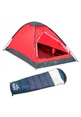 Kit Acampar Carpa Alpes Para 2 Personas + Mochila Alpes +Aislante térmico 180 cm x 50 cm