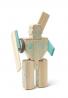 Tegu magbot magnética Bloque de madera Set