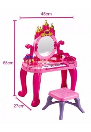 Tocador Juguete Para Niña Con Piano Obsequio Silla 16 Acceso