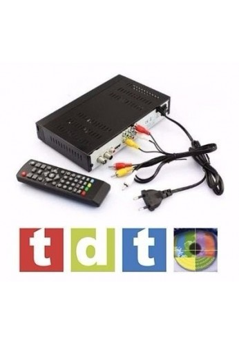 Combo Tdt Full Hd + Antena + Cable Hdmi + Rca + Control