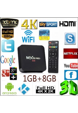 Tv Box 4k Quad Core 8gb Ram 1gb Convierte Tv A Smart Tv