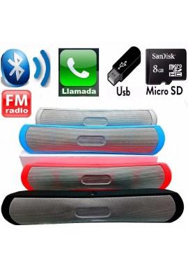 Barra De Sonido Bluetooth 28cm Parlante 6w, Usb, Sd