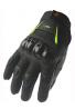 Guantes de moto de dedo completo Street Bike 09 (Med, negro / azul)