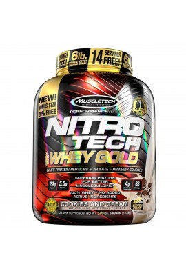 Nitro Tech 100% Whey Gold -6lb (5.5) - Muscletech