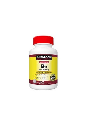 Vitamina B12 B B 12 Kirkland 5000 Mcg Sublingual 300 Tabs