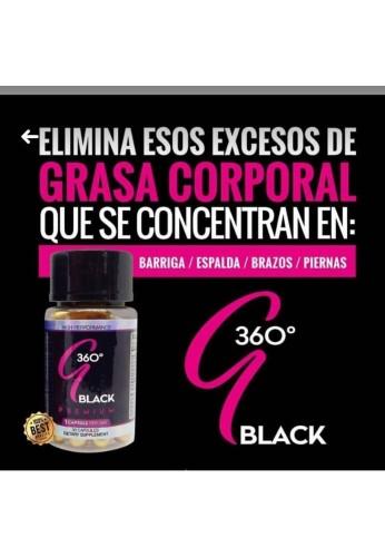 G360 Black Termogenico Y Supresor De Apetito