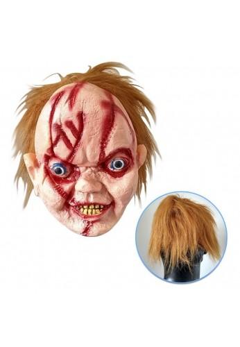 Mascara Halloween Chucky Látex Disfraz Cosplay Para Adultos