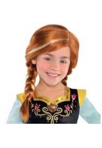 Peluca Frozen Princess Anna,