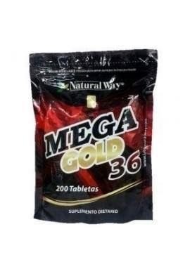 Mega Gold 36 X 200 Tabletas + 100 Gratis_potenciador Natural