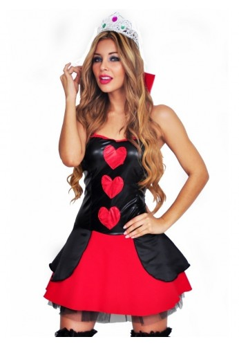 Disfraz Halloween Reina De Corazones Mujer