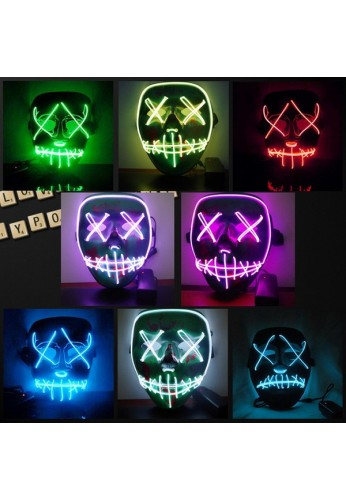 La Purga Mascara Luminosa Disfraz Fiesta Halloween