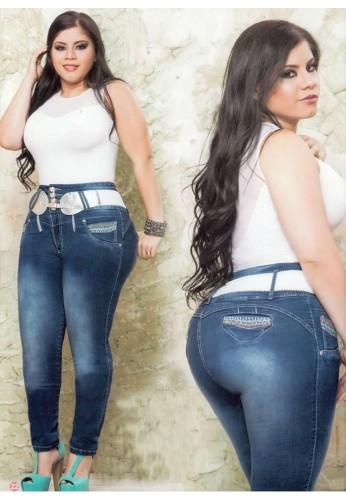 Jeans pretina ancha gorditas
