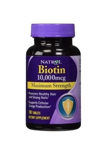 Natrol Biotina 10.000 tabletas fuerza máxima mcg